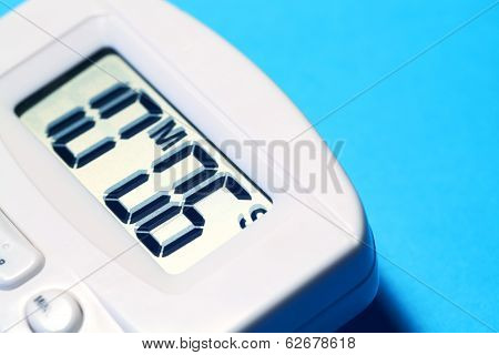 Close up of a Digital timer clock poster