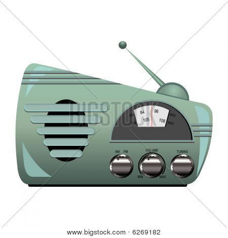 Retro Radio Set
