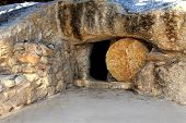 replica of the tomb of jesus in israel ** Note: Soft Focus at 100%, best at smaller sizes poster