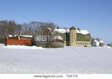 Old Family Farm In Winter