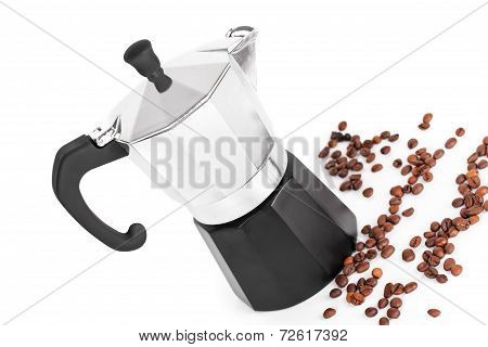 Coffeepot And Coffee Beans