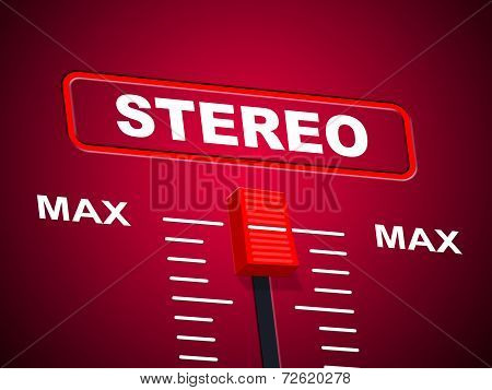 Stereo Music Represents Sound Track And Acoustic