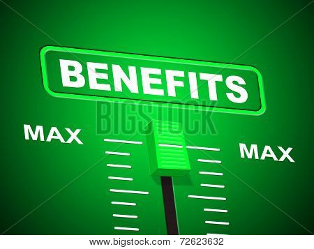 Benefits Max Indicates Upper Limit And Perk