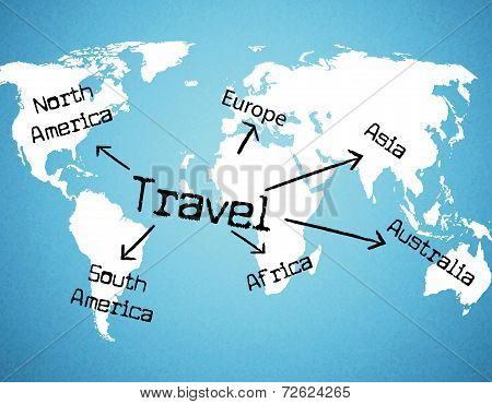 Worldwide Travel Means Tours Voyage And Traveller