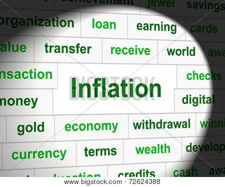 Finance Inflation Indicating Fiscal Rise And Growth poster