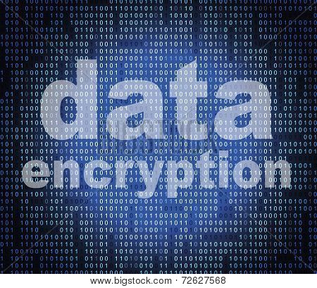Data Encryption Represents Cryptography Protect And Login