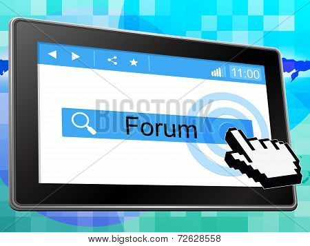 Online Forum Indicates World Wide Web And Chat