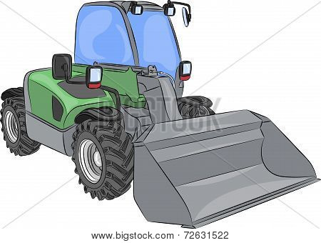 Vector Wheel Mini Bulldozer