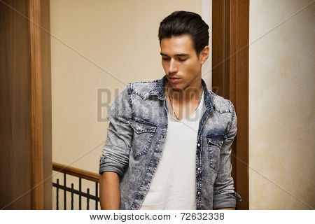Attractive Young Man Indoors