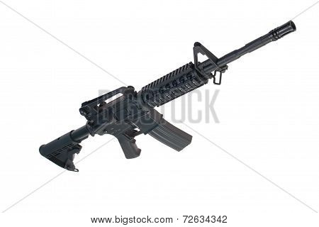 US Army M4A1 carbine isolated on a white background poster