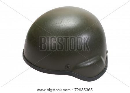 Kevlar Helmet Isolated On White