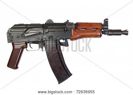 Kalashnikov Aks74U Isolated On A White Background