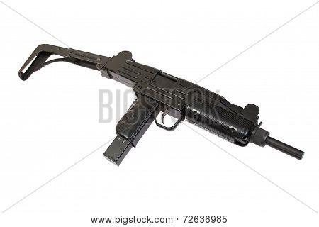 Uzi Submachine Gun Isolated On White