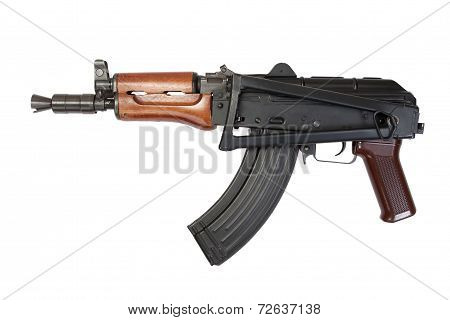 AK 47 isolated on a white background