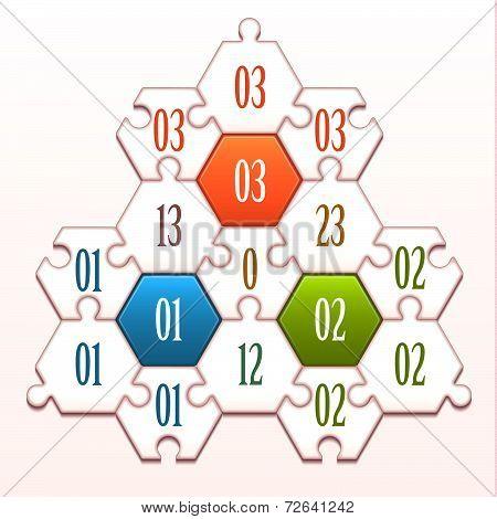 Concept of colorful puzzle pieces