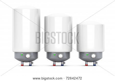 Three Modern Automatic Water Heaters