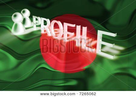 Flag Of Bangladesh Wavy Profile