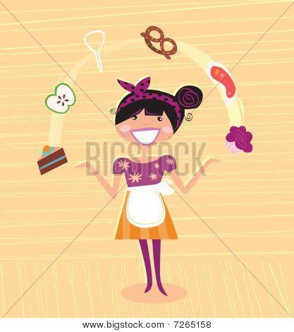 Madre - súper héroe de cocina