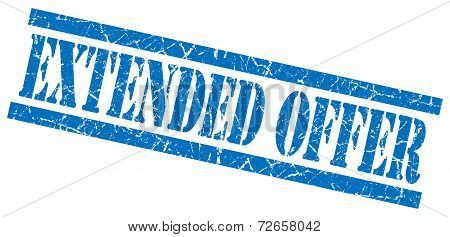 Extended Offer Blue Grungy Stamp Isolated On White Background