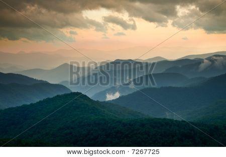 Blue Ridge Parkway Summer Sunset Landscape