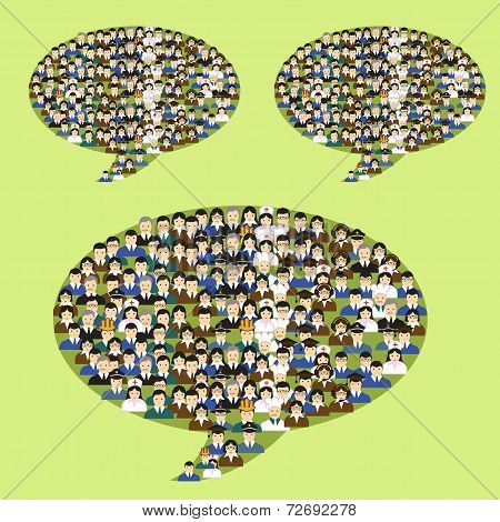 Vector teamwork and ideas concept illustration