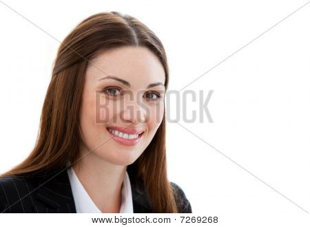 Portrait Of A Jolly Businesswoman