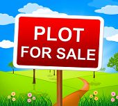 Plot For Sale Showing Real Estate Agent And Property poster
