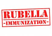 RUBELLA IMMUNIZATION red Rubber Stamp over a white background. poster