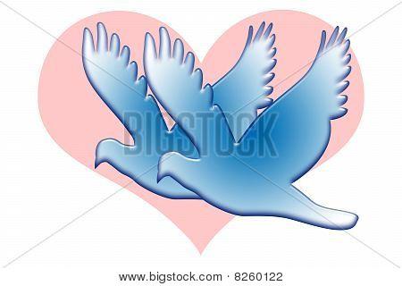 Blue Love Doves
