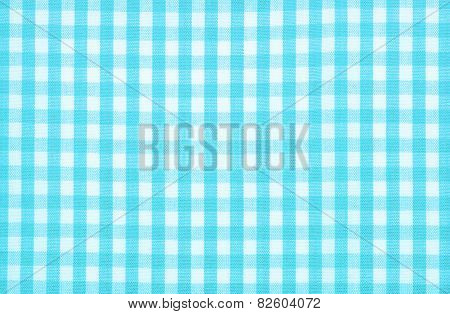 blue tablecloth