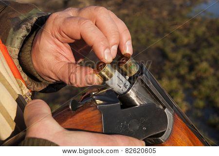 hunter and gun