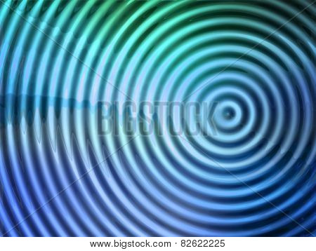 epicenter of  vibration or wave.