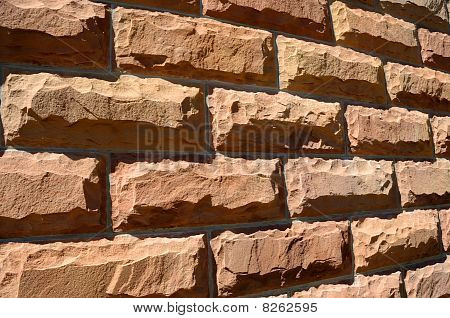 Rough Hewn Sandstone Brick Wall