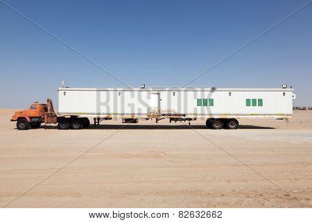 Semitrailer In The Desert