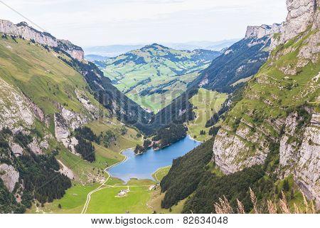 Aerial View Of Seealpsee (lake)