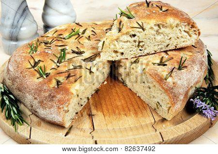 Italian Rosemary Focaccia Bread.