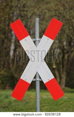 German Railway Crossing Sign