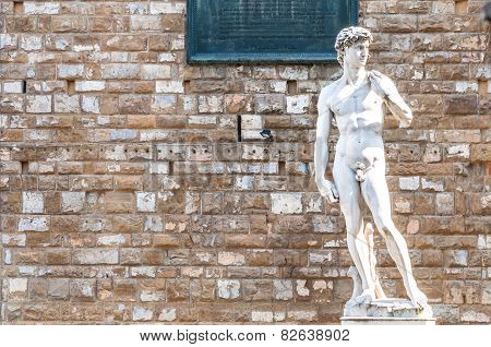 David By Michelangelo Replica Statue In Florence