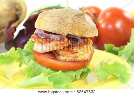 Fresh Healthy Delicious Prawn Burger
