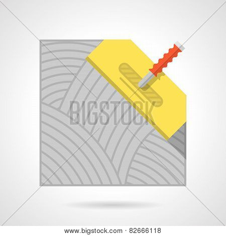 Colorful vector icon for flooring