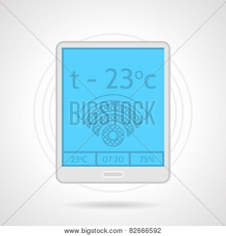 Colorful vector icon for heating controller device