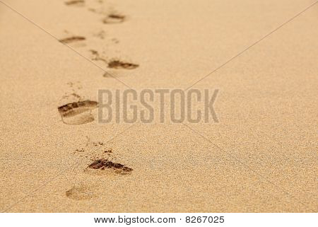 Fading Footprints In The Sand