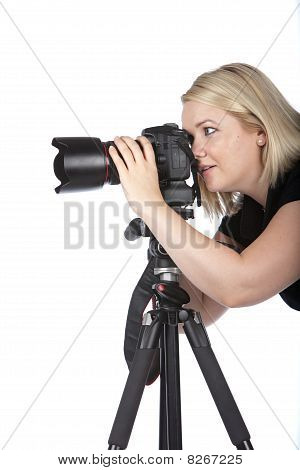 Beautiful Young Woman Taking A Picture