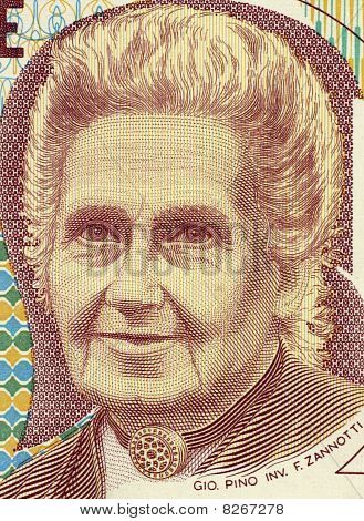 Italy - Circa 1990: Maria Montessor