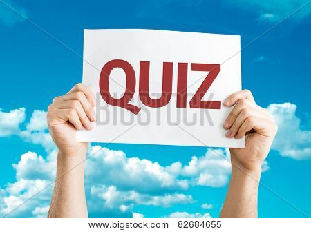 Quiz card with sky background