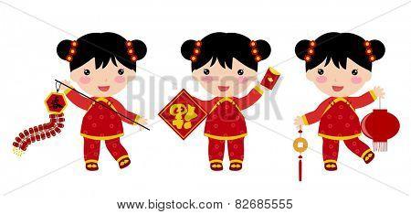 Happy Chinese New Year Greetings_children
