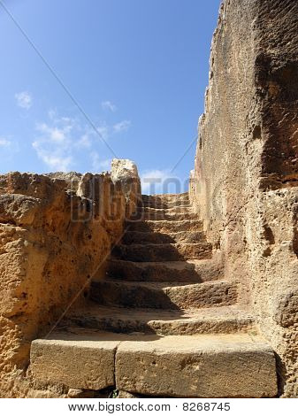 Ancient stone stairway