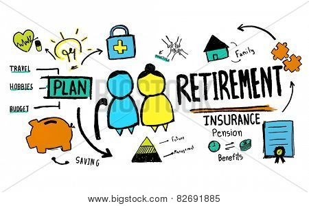 Retirement Senior Citizen Insurance Pension Management Concept