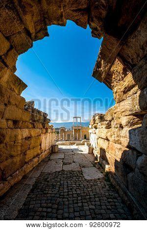 Roman theatre of Philippopolis in Plovdiv, Bulgaria poster