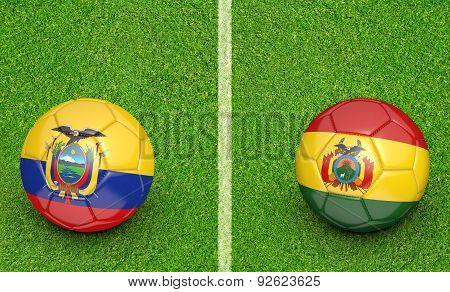 2015 Copa America football tournament, teams Ecuador vs Bolivia